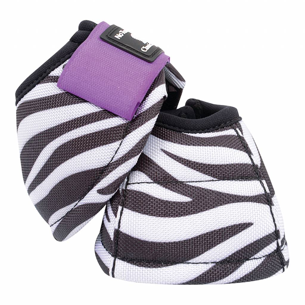 Classic Equine DyNo Turn Designer Line Bell Boots - Purple Zebra