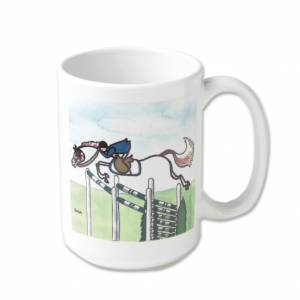 Kelley Stick Horse Mug - Green Triple Jump