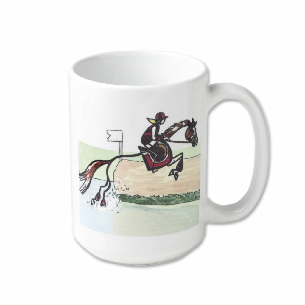 Kelley Stick Horse Mug - Log Jump