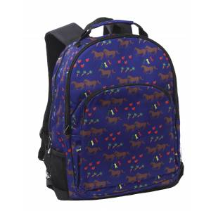Kelley Horses & Apples Backpack - Blue