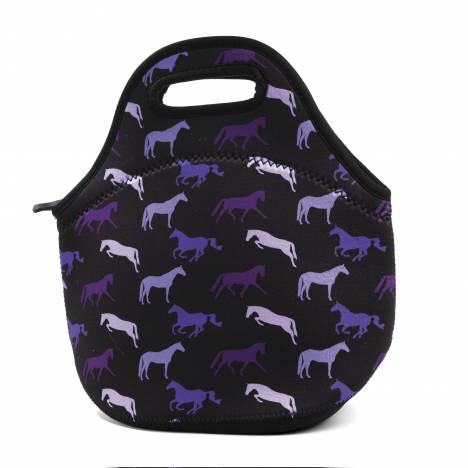 Kelley Neoprene Lunch Tote - Shades of Horses