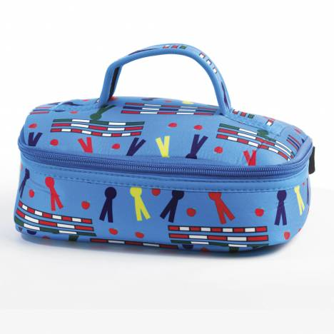 Kelley Neoprene Cosmetic Case - Rails & Ribbons