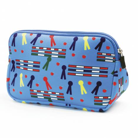 Kelley Neoprene Trianglular Cosmetic Case - Rails & Ribbons