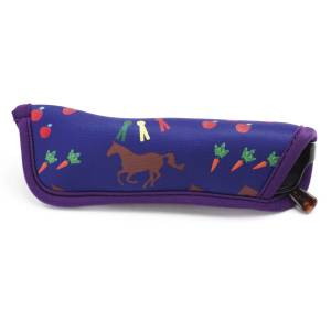 Kelley Neoprene Eyeglass Sleeve - Horses & Apples