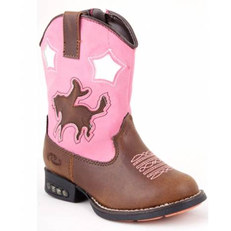 Roper Bronc Boots with Heel Lights - Toddler Girls