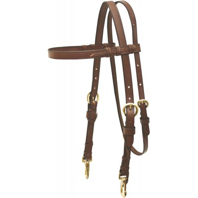 Cowboy Pro Crystal Concho Brow Headstall