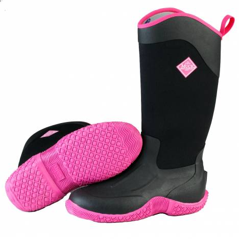 Muck Boots Tack II Tall - Ladies - Black Hot Pink
