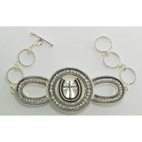 Western Edge Jewelry Horseshoe Cross Bracelet