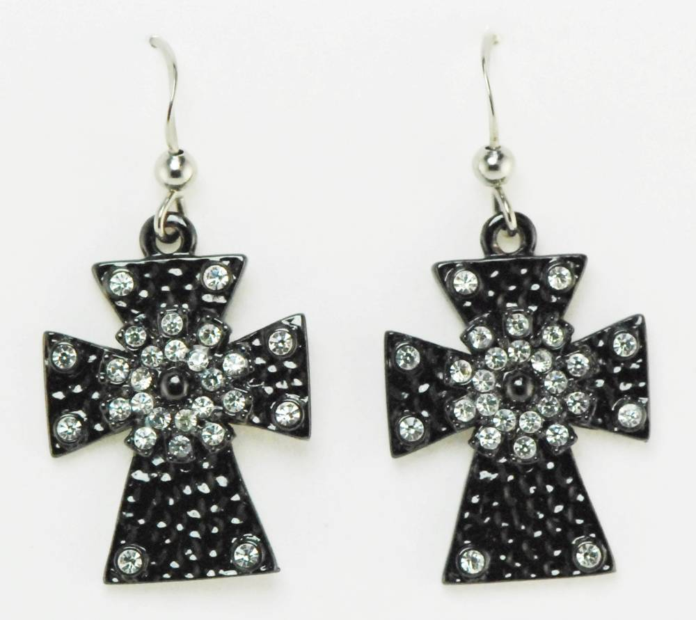 western edge jewelry cross earrings equestriancollections