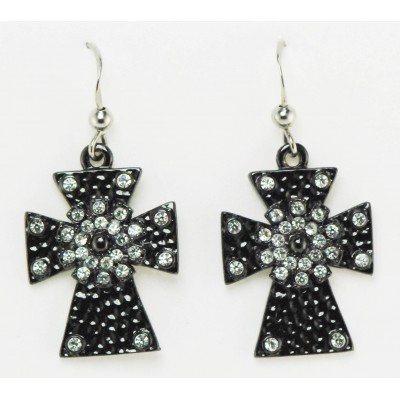 Western Edge Jewelry Cross Earrings