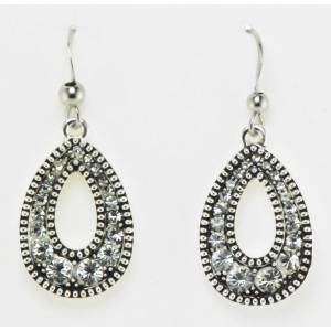 Western Edge Jewelry Crystal Teardrop Earrings