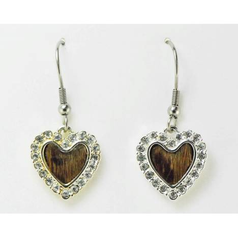 Western Edge Jewelry Hair-On Heart Earrings