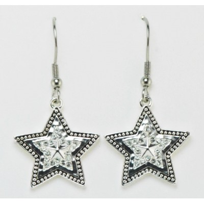 Western Edge Jewelry Crystal Star Earrings