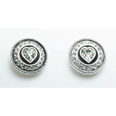 Western Edge Jewelry Concho Heart Earrings
