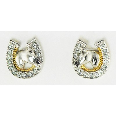 Western Edge Jewelry Horseshoe Horsehead Earrings