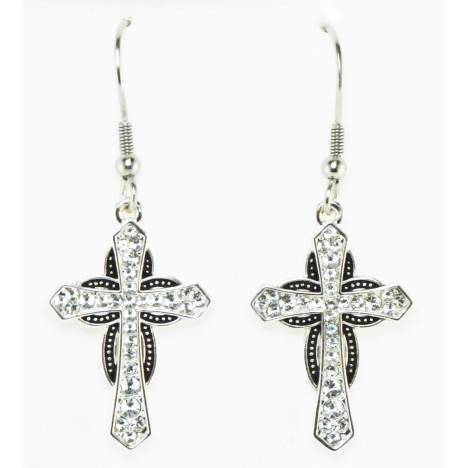 Western Edge Jewelry Cross Horseshoe Earrings