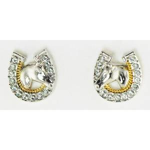 Western Edge Jewelry Horsehead Concho Earrings