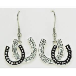 Western Edge Jewelry Double Horseshoe Earrings