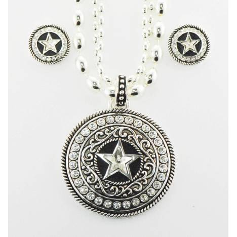 Western Edge Jewelry Crystal Star Concho Jewlery Set