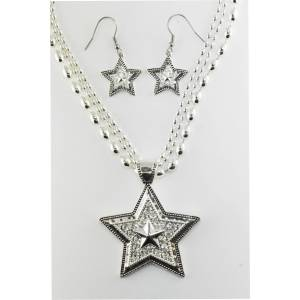 Western Edge Jewelry Crystal Star Jewlery Set