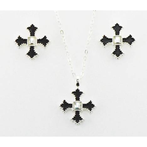Western Edge Jewelry Filled Cross Jewelry Set