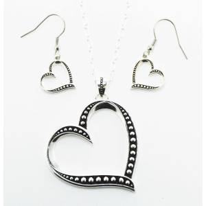 Western Edge Jewelry Side Heart Jewelry Set