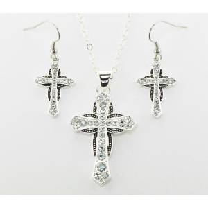 Western Edge Jewelry Cross Horseshoe Jewelry Set