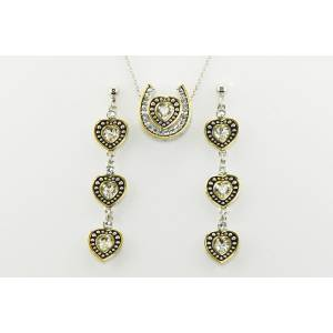 Western Edge Jewelry Heart & Horseshoe Rope Jewelry Set