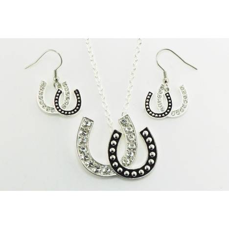 Western Edge Jewelry Double Horseshoe Jewelry Set