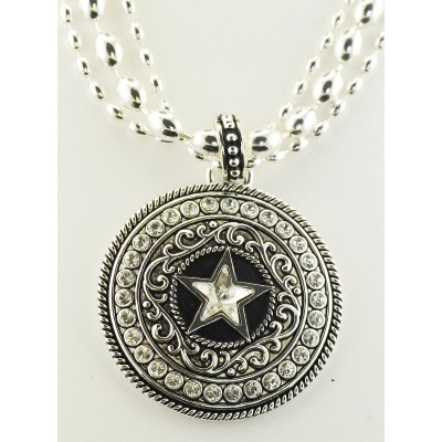 Western Edge Jewelry Necklace Crystal Star Concho