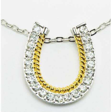 Western Edge Jewelry Horseshoes Rope Necklace