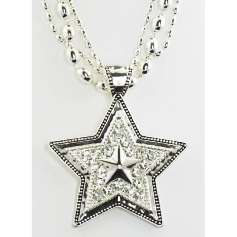 Western Edge Jewelry Crystal Star Necklace