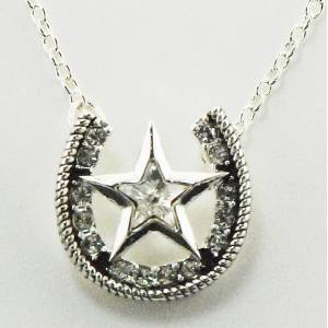 Western Edge Jewelry Star & Horseshoe Necklace