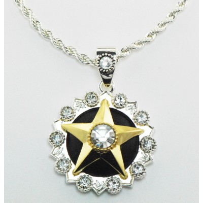 Western Edge Jewelry Crystal Center Star Necklace