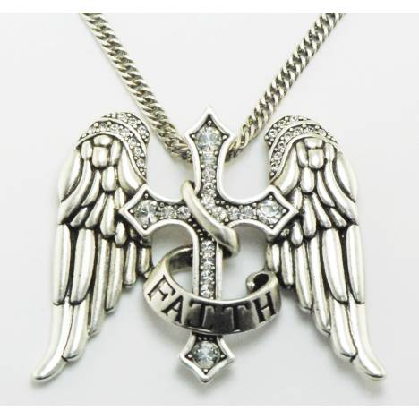 Western Edge Jewelry Angel Wings Faith Necklace
