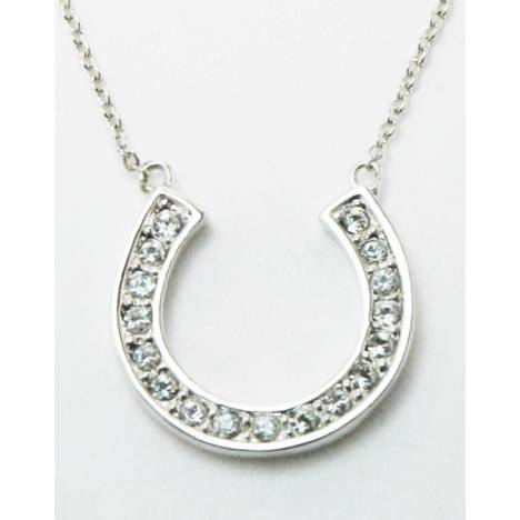 Western Edge Jewelry Crystal Horseshoe Necklace