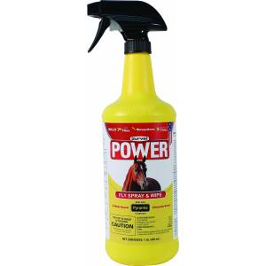 Durvet Power Fly Spray And Wipe For Horses
