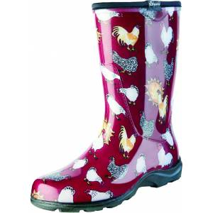 Sloggers Ladies Waterproof Comfort Boots - Chicken Red