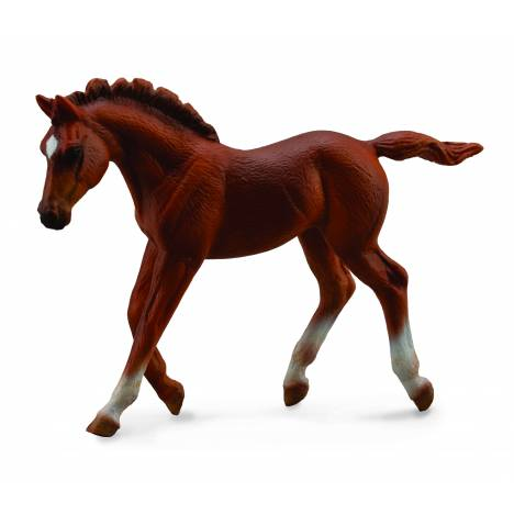 Breyer by CollectA Thoroughbred Foal Walking Chestnut