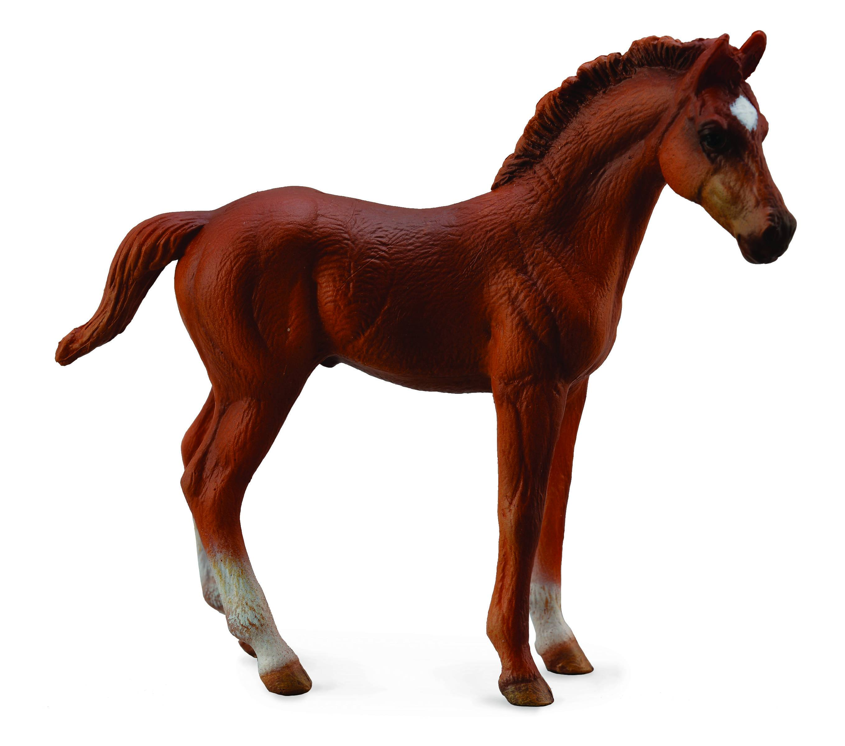 Breyer by CollectA Thoroughbred Foal Standing Chestnut