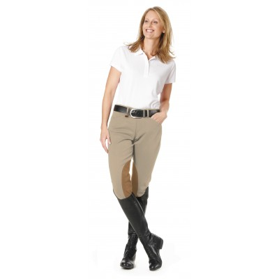 Ovation Ladies Taylored Side Zip Euroseat DX Knee Patch Breeches