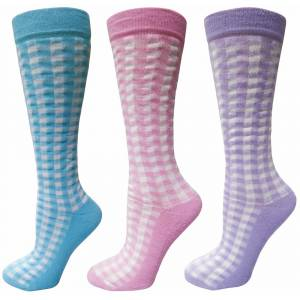Tuffrider Ladies Gingham Check Socks