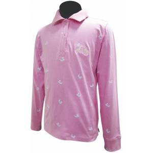 Equine Couture Whale Childs Long Sleeve Polo Shirt