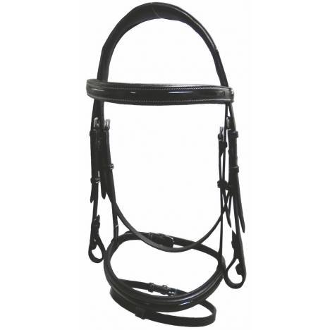 HDR Piaffe Mono Crown Bridle with Flash Nose
