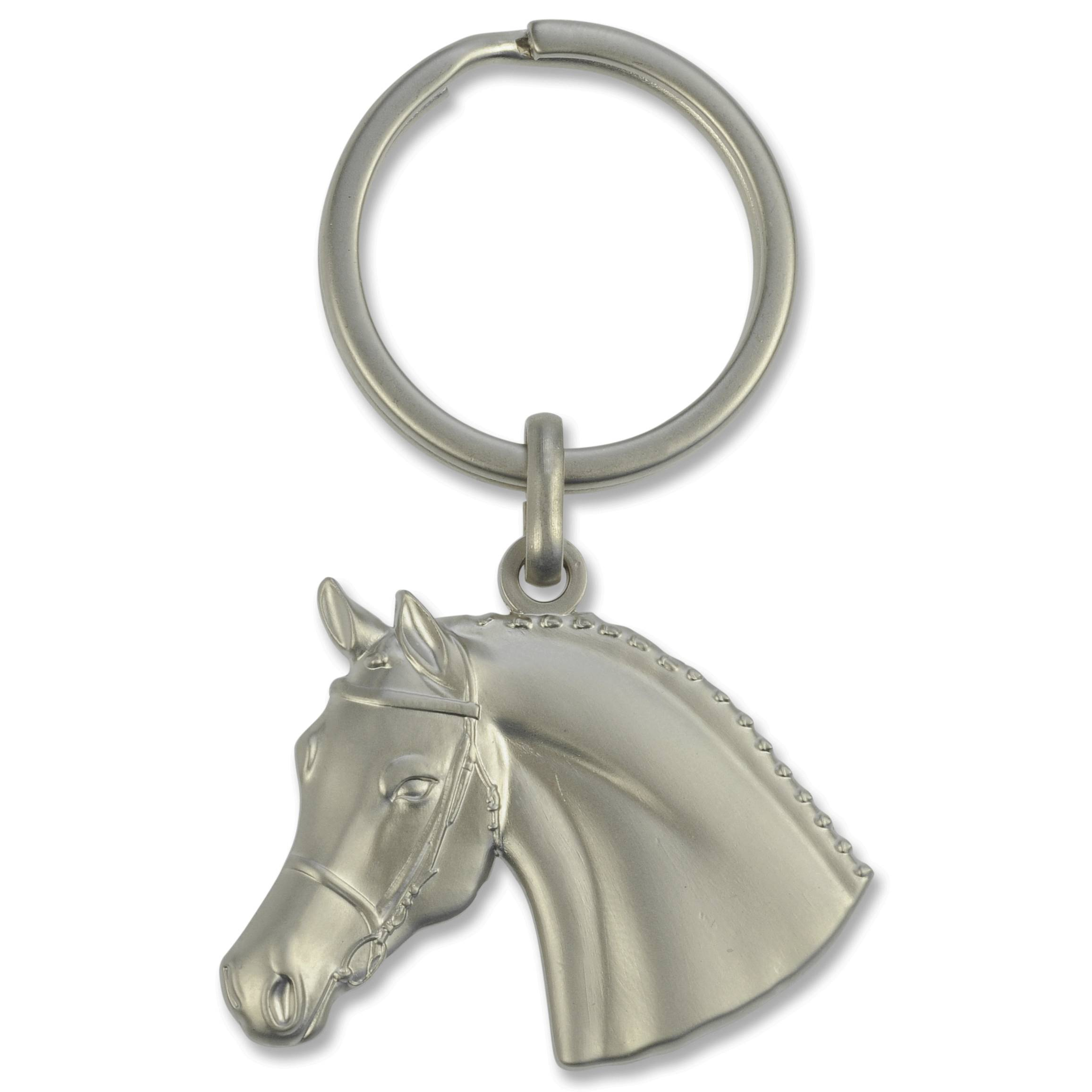 3D Horse Head W Bridle Keychain