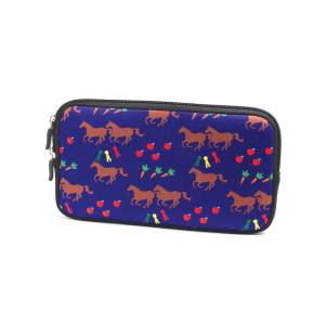 Tek Trek Neoprene Zipper Bag - Horses & Apples