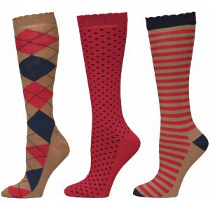 Equine Couture Raspberry Medley Socks - Ladies