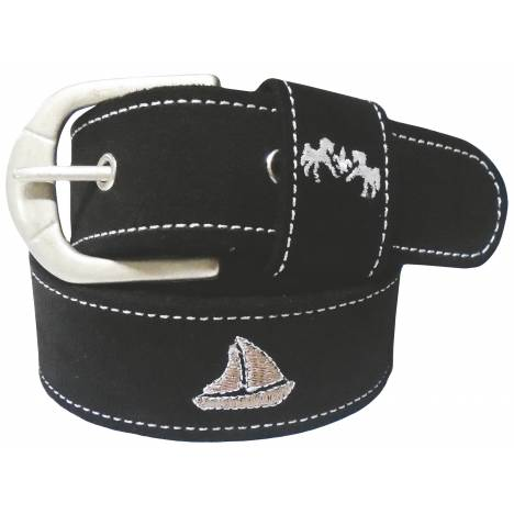 Equine Couture Boat Suede Belt - Ladies