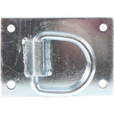 Heavy Duty Tie Ring For Horse Barns - Silver - 3.5X5
