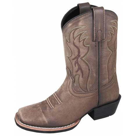 Smoky Mountain Childs Gallup Square Toe Boots - Brown